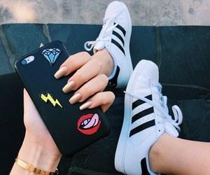 adidas, iphone, and nails image