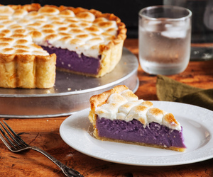 marshmallow, pie, and ube image