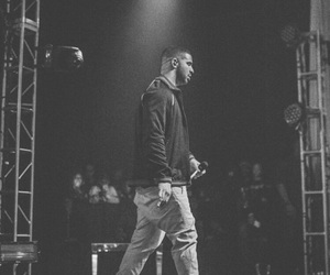 black and white, celebrities, and Drake image