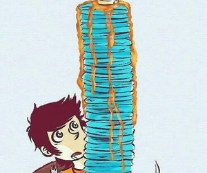 percy jackson, blue, and food image