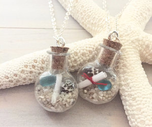 etsy, message in a bottle, and beach jewelry image