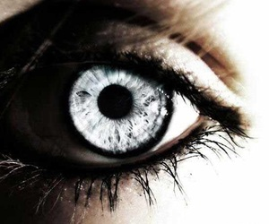 eye, eyes, and silver image