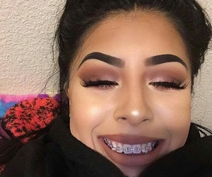makeup, beauty, and braces image