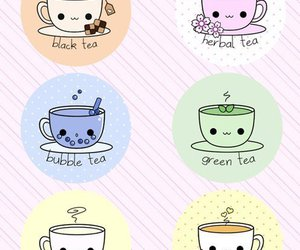 tea and kawaii image