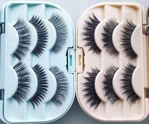 makeup, eyelashes, and beauty image