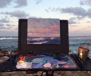 aesthetic, beach, and art image