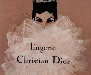 dior, lingerie, and vintage image