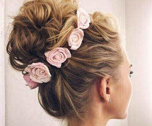 beauty, hairstyles, and fashion image