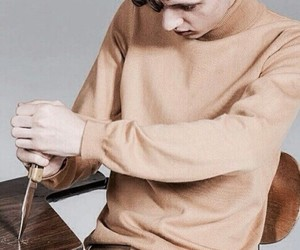 troye sivan, boy, and knife image