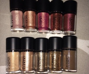 makeup, mac, and glitter image