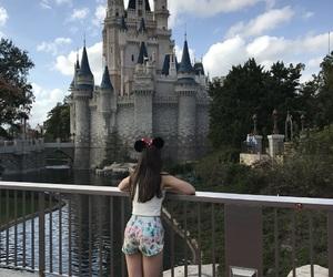 castle, disney world, and orlando image