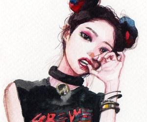 fan art, korean, and jennie image