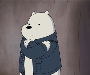 hug, ice bear, and jacket image