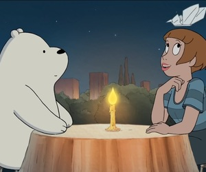 candle, ice bear, and we bare bear image