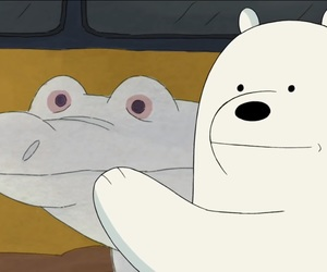 ice bear, we bare bear, and crocodile image