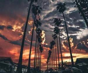 sky, sunset, and stop image