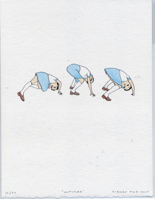 bend over, blue skirt, and drawing image