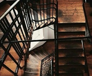 brown, theme, and stairs image