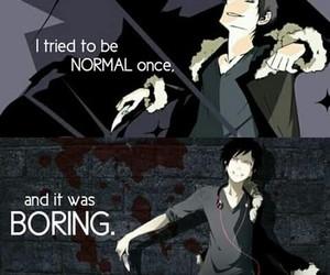 anime, boring, and boy image