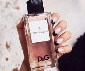 nails, pink, and perfume image