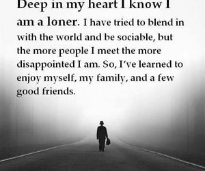 quote, loner, and life image