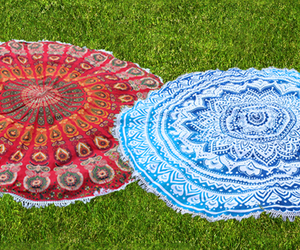 beach towel, beach throw, and round beach towel image