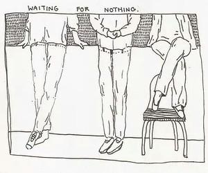 art, waiting, and drawing image