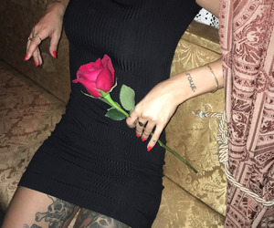 tattoo, rose, and grunge image
