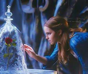 emma watson, belle, and beauty and the beast image