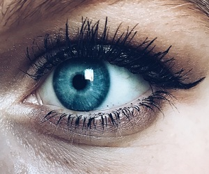 blue eyes, closeup, and cold image