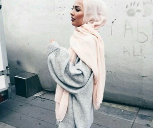 hijab, fashion, and grey image