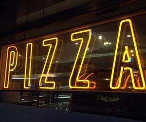 pizza, yellow, and light image