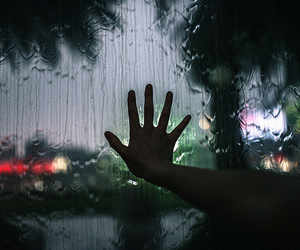 rain, hand, and alternative image