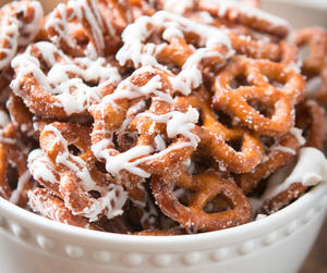 food, sweets, and pretzels image