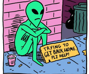 alien, home, and grunge image