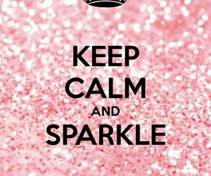 sparkle, keep calm, and pink image