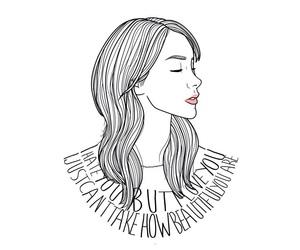 art, girl, and drawings image