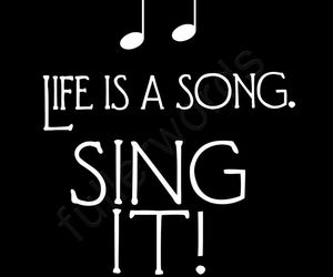 music, quotes, and sing image