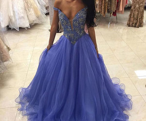 evening dress, prom dress, and woman fashion image