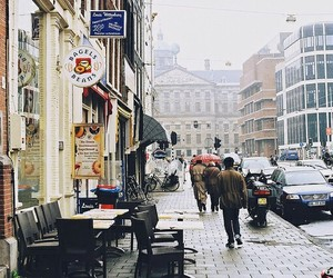 city, vintage, and people image
