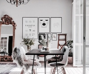 decor, girl, and home image