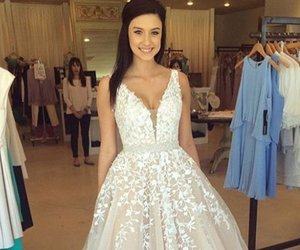 dress, prom dress, and wedding dress image