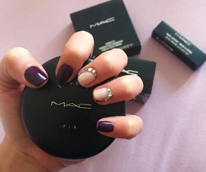 mac, polish, and nails image