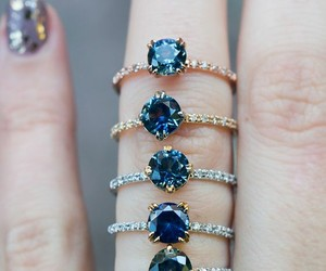 blue, ring, and rings image