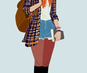 girl, drawing, and fashion image