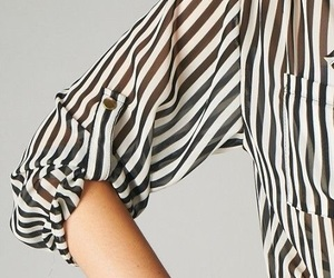 fashion, stripes, and blouse image