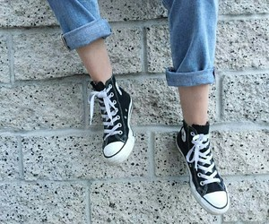 converse, denim, and jeans image