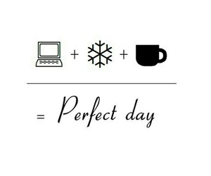 winter, perfect, and snow image