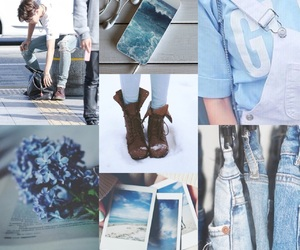 blue, kpop, and moodboard image