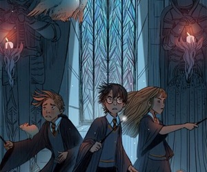 dumbledore, hermione, and luna lovegood image